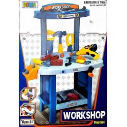 Barkács Asztal Mechanikus Fúróval Fiús Játékok