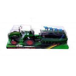 Dupla Pótkocsis Traktor Fiús Játékok